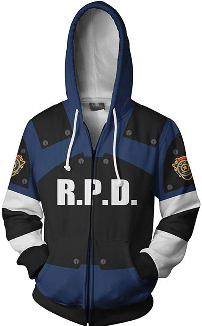 Resident Evil Hoodies Coat Unisex Pullover Sweatshirt Casual Hooded Jacket Tops