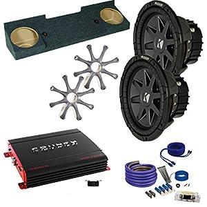 "Kicker for GMC 88-98 Sierra CVR102 10"" Truck Bundle with MB Quart ZA2-1000.1D 1000 Watt Mono Amp, Enclosure, Wire Kit"