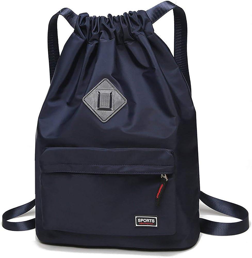 Waterproof Drawstring Sport Bag Backpack String Sackpack Cinch Nylon for Gym