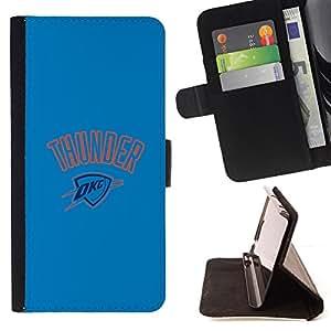 - OK Thunder Basketball - - Prima caja de la PU billetera de cuero con ranuras para tarjetas, efectivo desmontable correa para l Funny HouseFOR Sony Xperia Z1 L39