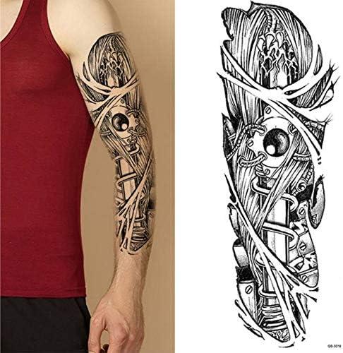 4 UNIDS, brazo completo tatuajes de flores pegatinas hombro falso ...