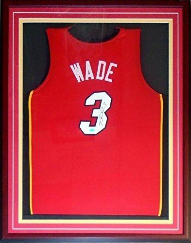 Dwyane Wade Autographed Jersey   Framed Custom   Autographed NBA Jerseys