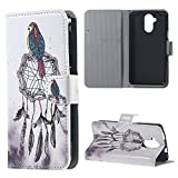 Yakamoz PU Leather Bird on Dreamcatcher Folio Wallet Card Slots Stand Case Cover for Acer Liquid Z410 with Free Screen Protector & Stylus Pen
