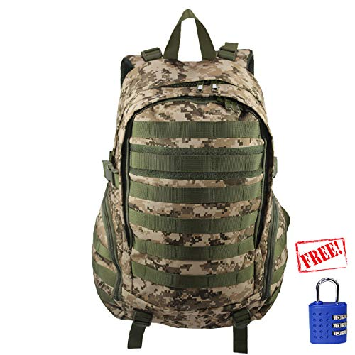Machu Mountain Camo Commuter Series - Tactical Laptop Backpack, Perfect for Hiking & Camping, Multipurpose for School (Desert Digital) (Camo Tactical Digital)