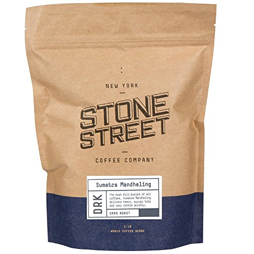 INDONESIAN SUMATRA MANDHELING | Dark Roast | 1 LB Whole Bean Coffee | Small Batch Roasted in Brooklyn | Naturally Processed 100% Arabica | Full Body, Bold, Rich, Complex Flavor (Long Island Gift Baskets)