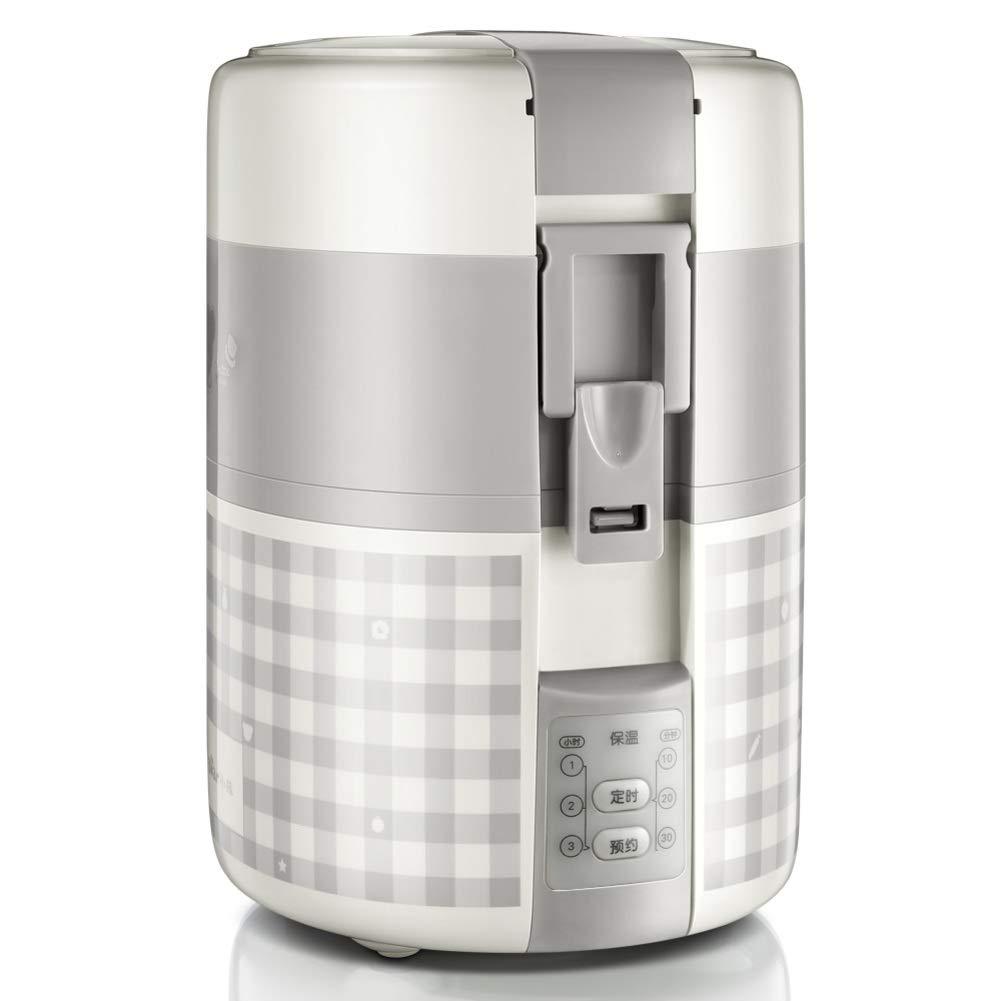 ミニ炊飯器,一人用電気ランチ ボックス 1 つ小米炊飯器ご飯鍋電気炊飯器食品スティーマー圧力炊飯器-グレー 17.9x16.4x24cm(7x6x9inch) 17.9x16.4x24cm(7x6x9inch) グレー B07HDQ5BYH