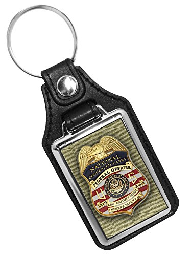 US National Concealed Carry Federal Officer Officer's Safety Badge Key Ring