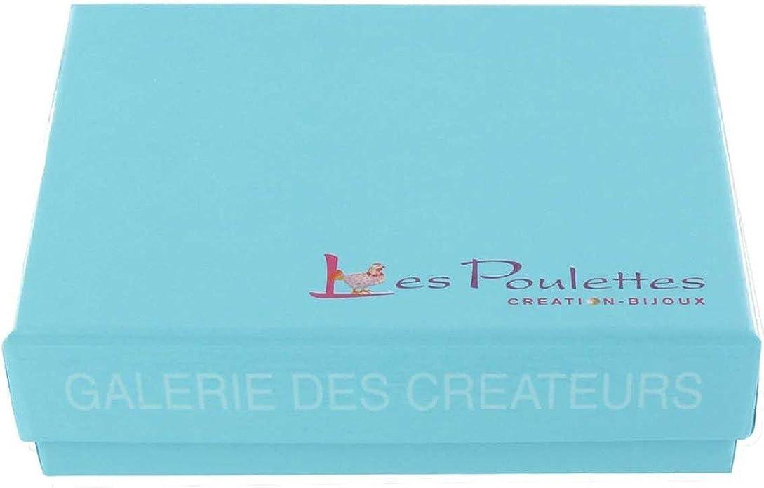 Bague Double Anneaux Argent R/éversible Carr/é de Larimar et Am/éthyste Les Poulettes Bijoux