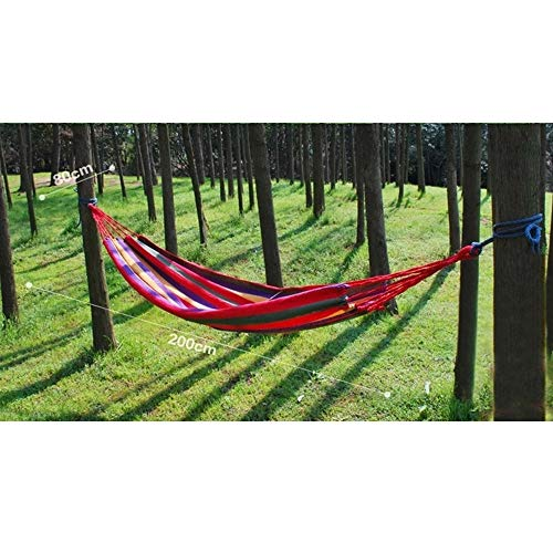 Others SQ-061 Portable Hammock Camping Hammock for Backpacking Garden, Backyard,Hiking &Traveling - Multicolors, Large        Amazon imported products in Karachi