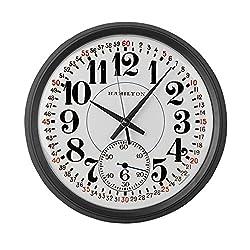 CafePress - Hamilton Railroad Pocket Watch - Large 17 Round Wall Clock, Unique Decorative Clock