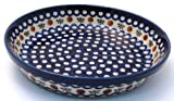 EuroQuest Imports Bunzlauer Polish Pottery Traditional Pie Plate in Country Blue Pattern