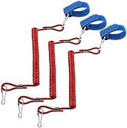 3pcs/Bag Coiled Paddle Leash Swivel Surf Leash Leash Leg Rope for Kayak Canoe Raft Boat