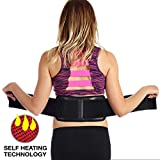 Ziraki Adjustable Lumbar Lower Back Support Massage Brace Self-heating Magnetic Therapy Belt Relieve Pain And Stress FDA Approved (Black, One Size Fits All)
