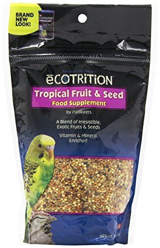Ecotrition Tropical Fruit & Seed Food Supplement, Parakeets, 8-Ounce ()