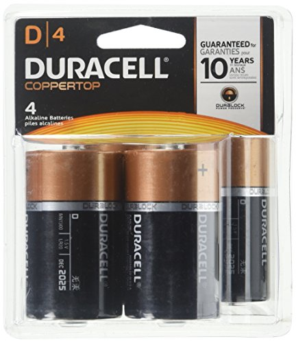 Duracell Coppertop D Batteries - 4 ct