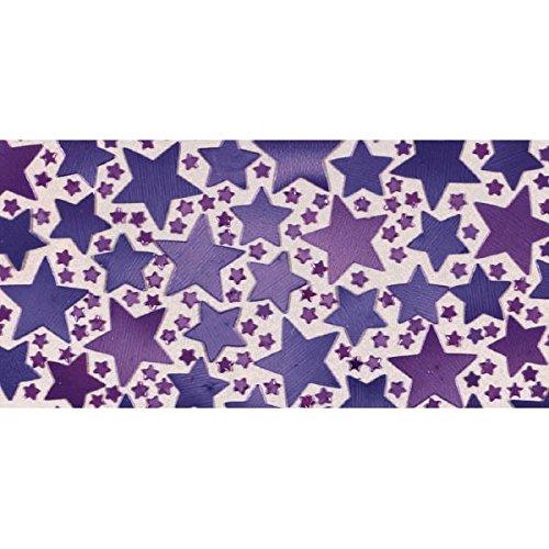 Amscan 37014.14 Sparkle Metallic Star Confetti, 0.25 oz, Purple