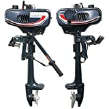 HANGKAI 3.5 HP Superior Engine Water Colling System Outboard Motor Two-stroke Inflatable Fishing Boat.
