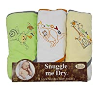 Animal Hooded Bath Towel Set, 3 Pack, Frenchie Mini Couture (multi)