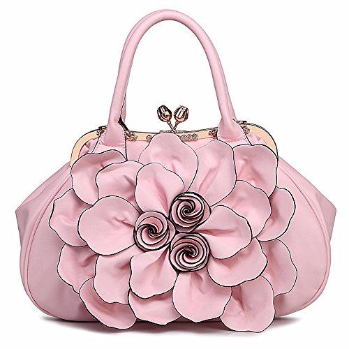 Hembra Marea Bolsa Ocio Bolso Bolsa de Flor GQFGYYL Bolso de Hembra Pink Violeta qZ1x1zv