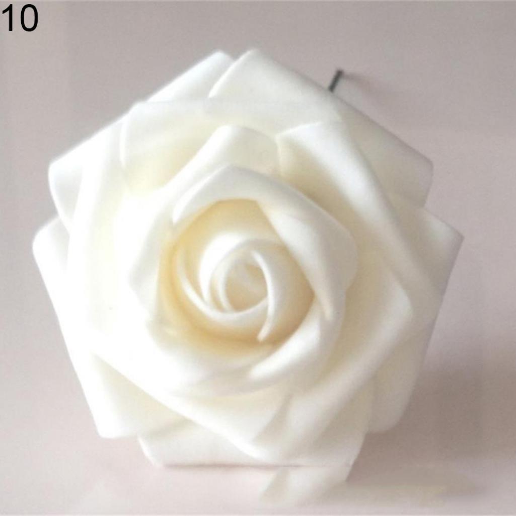 Amazon 50pcs Fake Foam Roses Artificial Flowers Wedding Diy