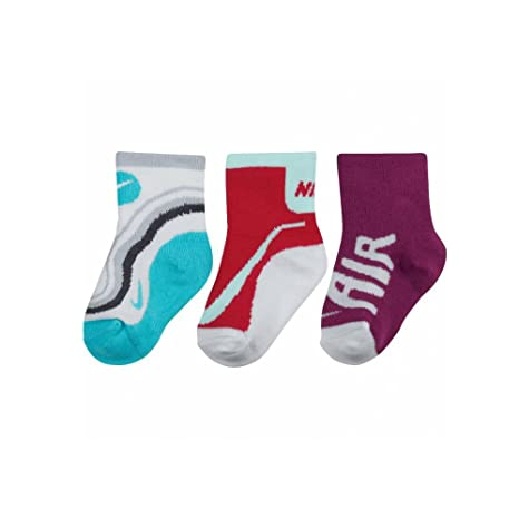 Nike 3pk (3 pares) infantil niños Unisex calcetines tripulación, varios colores, talla