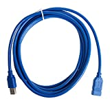 Kocome 3M/10ft USB 3.0A Male Plug To Female Socket Super Fast Extension Cable Cord