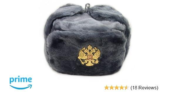84bda15965889 Amazon.com  Russian Army KGB Cossack Military Fur Hat Ushanka  GR XL  w  Imperial Eagle Crest  Clothing