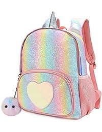 Unicorn Backpack for Girls Kids Rainbow Glitter School Bag 8082a89826808