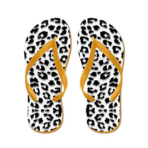 CafePress Snow Leopard Print - Flip Flops, Funny Thong Sandals, Beach Sandals