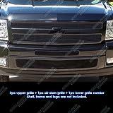 07 silverado black grill - Fits 2007-2013 Chevy Silverado 1500 Black Billet Grille Grill Insert Combo # C61133H