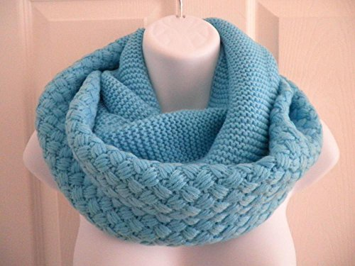 Blue_NEW Cowl neck scarf Winter Infinity knit Shawl circle (US - Sunglasses Electric Overdrive