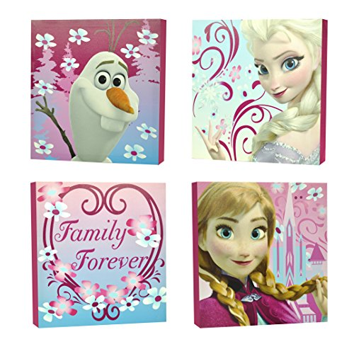 "Disney Frozen Square Canvas Wall Art 11"" Toy (Pack of 4)"