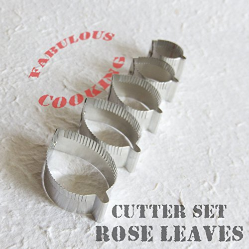 Cutters set rose leaves by My Thai Flowers