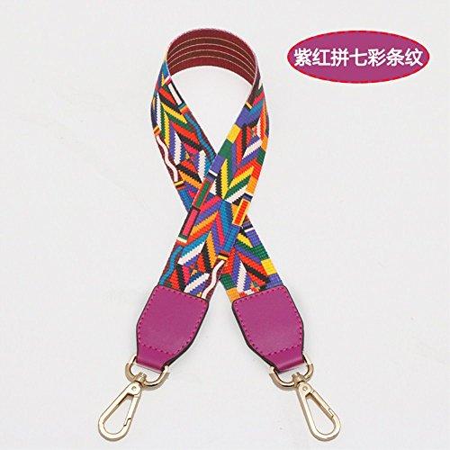 (Violet Woven belt Wide 3.8cm / Length 73cm Mini Purse/Shoulder/Cross Body Bag Replacement DIY Strap replacement purse strap)