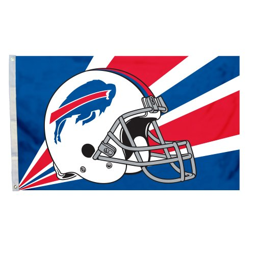 Fremont Die NFL Buffalo Bills 3-by-5 Foot Helmet - Bills Buffalo Clock