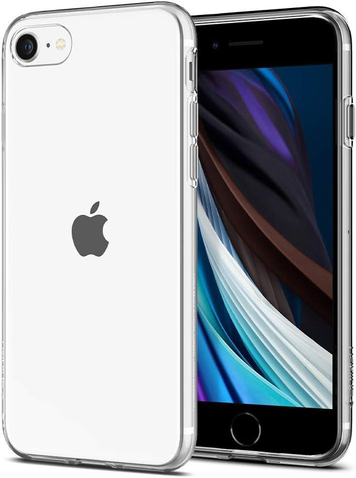 Spigen Liquid Crystal [2nd Generation] Designed for iPhone SE 2020 Case/Designed for iPhone 8 Case (2017) / Designed for iPhone 7 Case (2016) - Crystal Clear