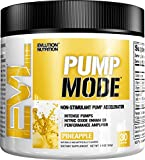 Evlution Nutrition Pump Mode Nitric Oxide Booster to Support Intense Pumps, Performance and Vascularity, 30 Servings (Pineapple)
