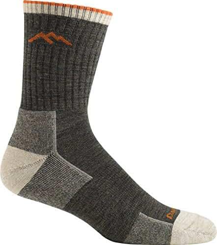 Darn Tough Men's Merino Wool Micro Crew Sock Cushion, Olive, Medium