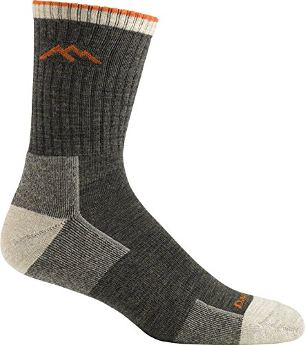 Darn Tough Hike-Trek Merino Wool Micro Crew Cushion Sock (Pair) - L Olive