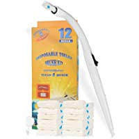 Effacera Disposable Toilet Cleaning System Disposable Toilet Brush Fresh Brush with Flushable Refills (Brush with 12…