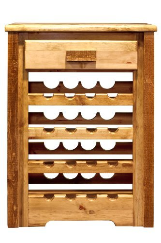 Montana Woodworks MWHCWRSL Homestead Collection Stained & Lacquered Wine Cabinet by Montana Woodworks