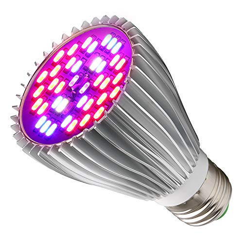 30W LED Grow Light Bulb for Indoor Plants, Grow Bulbs Full Spectrum Grow Lights for Growing Plants Lamp, Vegetables and Flowers, Plant Growing Lights Bulbs for Hydroponics Greenhouses Gardening