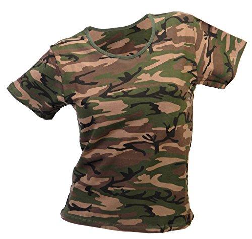 Style Manches Confortable Xxl À Us Taille Army shirt Stretch Pour T Xs Coloris Femme Plusieurs Woodland Courtes AAEq8