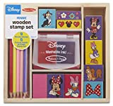 Melissa & Doug Disney Minnie Mouse Wooden Stamp Set: 9 Stamps, 5 Colored Pencils, and 2-Color Stamp Pad