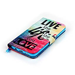 Galaxy S7 edge Case, Firefish Stand Flip Folio Wallet Cover Shock Resistance Protective Shell with Cards Slots Magnetic Closure for Samsung Galaxy S7 edge-Life