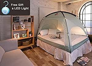 Amazon Com Indoor Privacy Tent On Bed Blackout Keep Warm