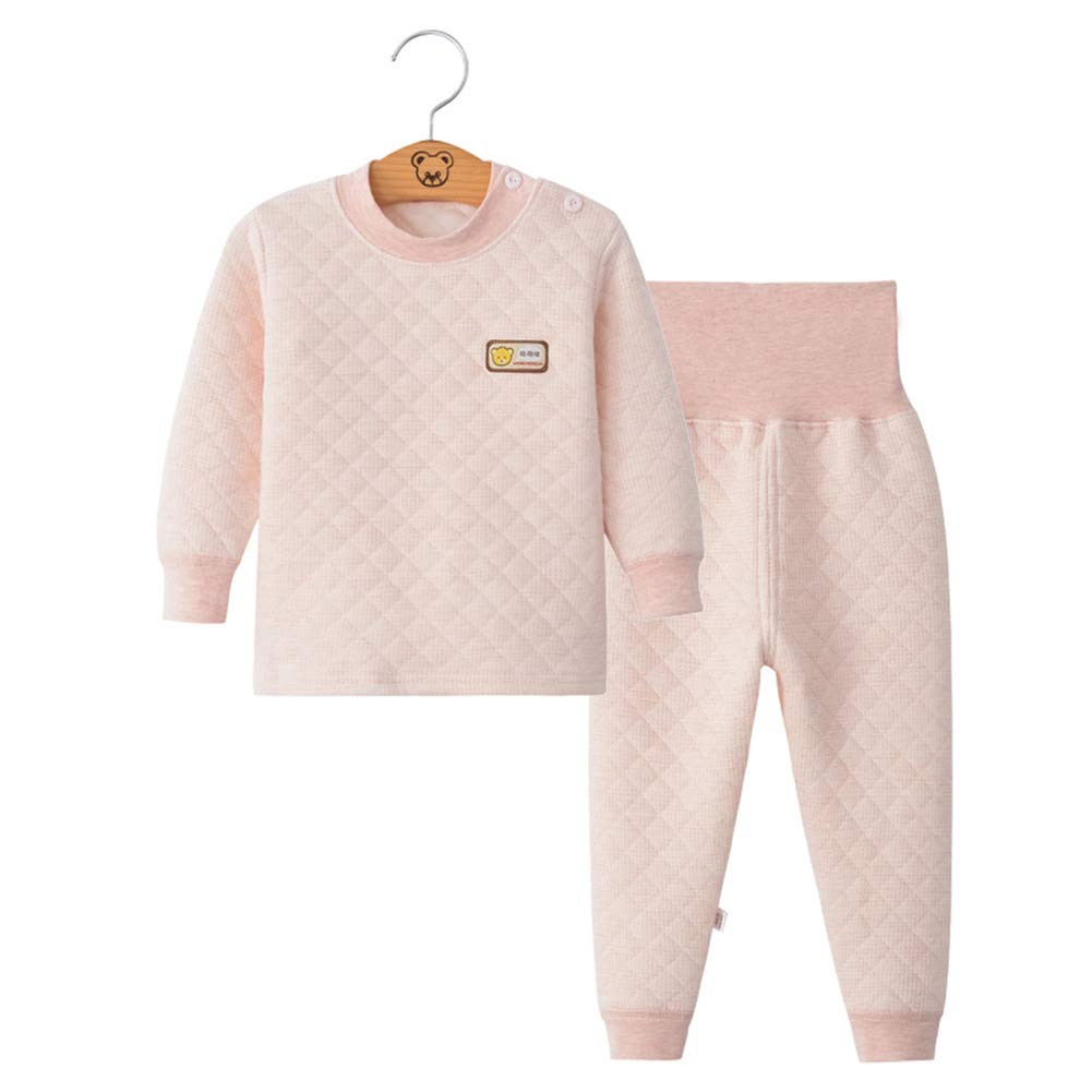 AIKSSOO 2Pcs Infant Toddler Baby Pajamas Set Thermal Underwear Cotton Long Johns