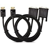 Cable Matters 2-Pack DisplayPort to DVI Cable (DP to DVI Cable) 6 Feet