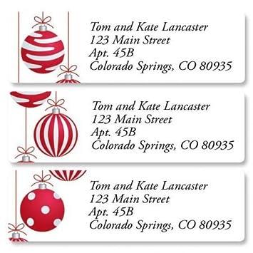 amazon com crimson delight christmas small return address labels