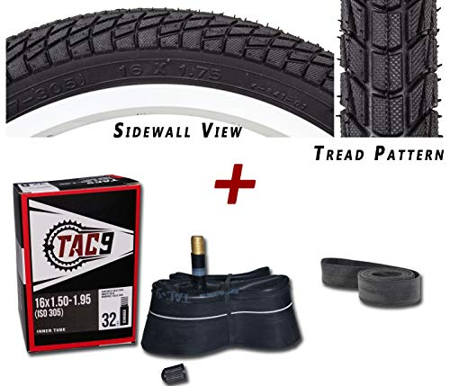 TAC 9 2 Pack - Tires, Tubes, Rim Strips Combo - 16
